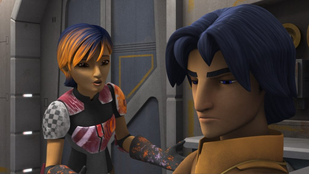 Star Wars Rebels - Sabine and Ezra have a talk