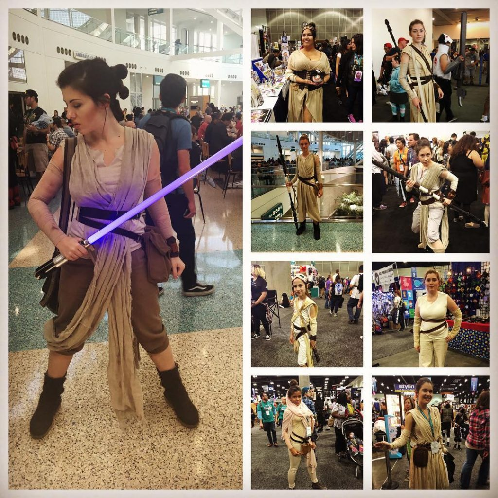 Rey cosplayers at WonderCon