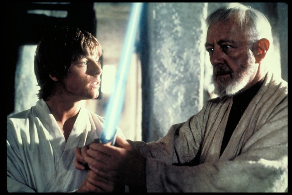 A New Hope - Obi-Wan teaches Luke about lightsabers