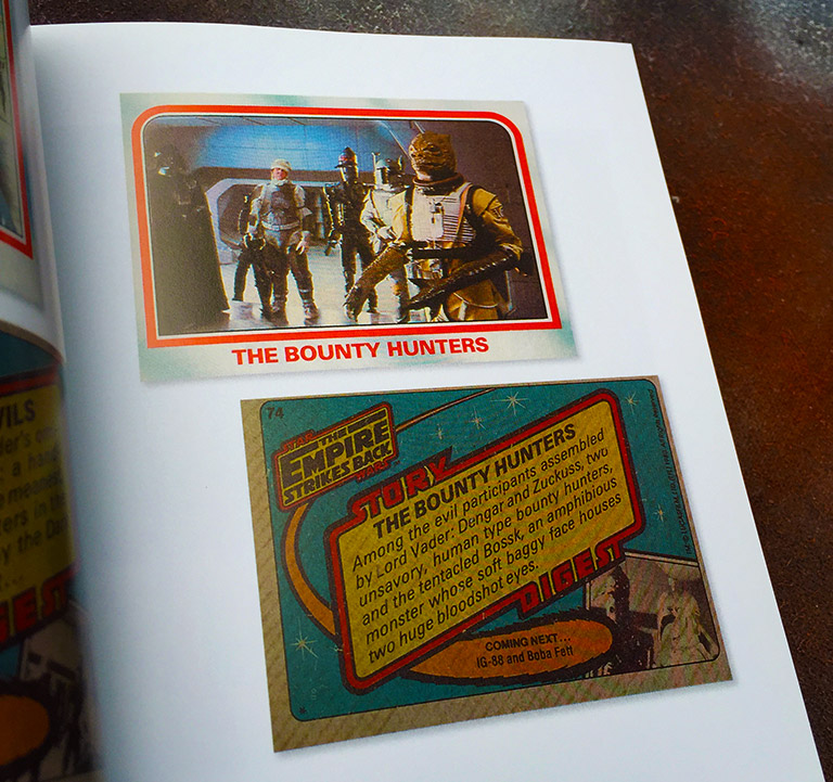 Topps' Star Wars Galaxy trading card pages