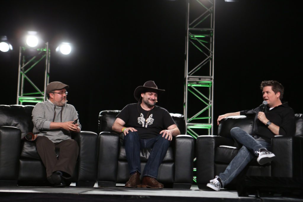 Pablo Hidalgo, Dave Filoni, and David Collins