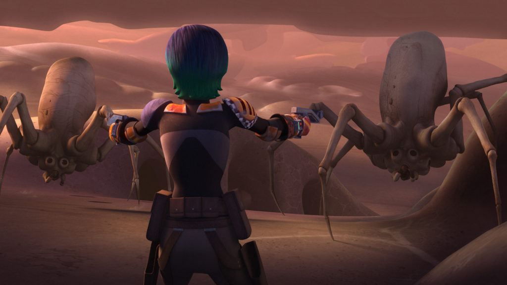 Sabine-with-spiders