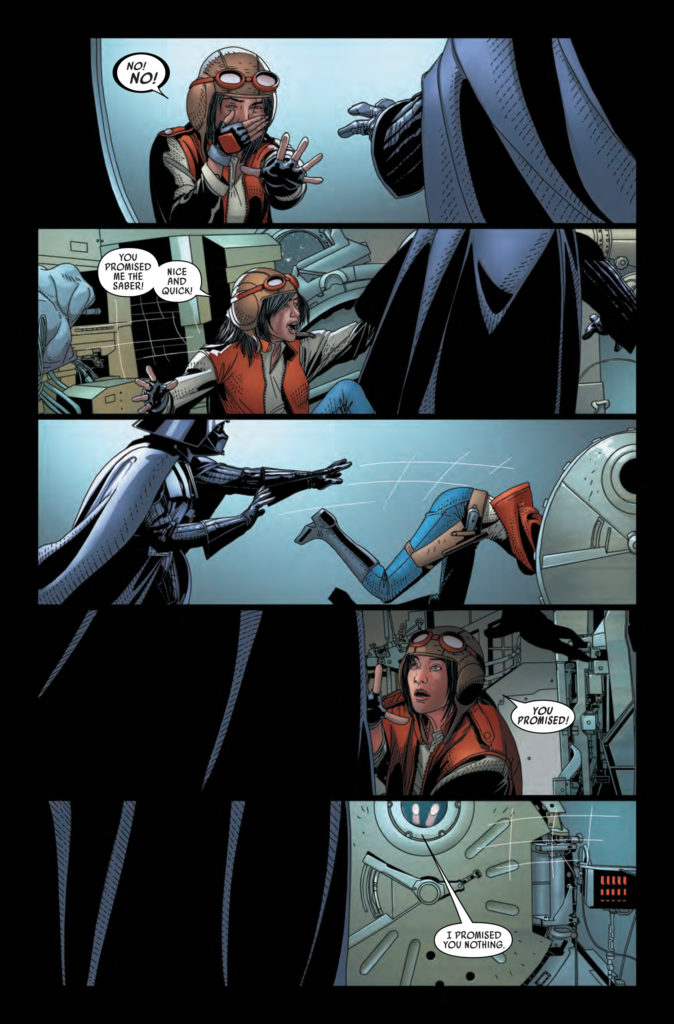 Comic depicting the final act of Darth Vader #25