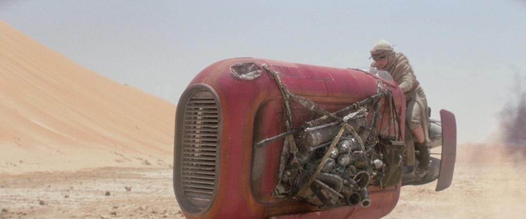 The Force Awakens - Rey's speeder