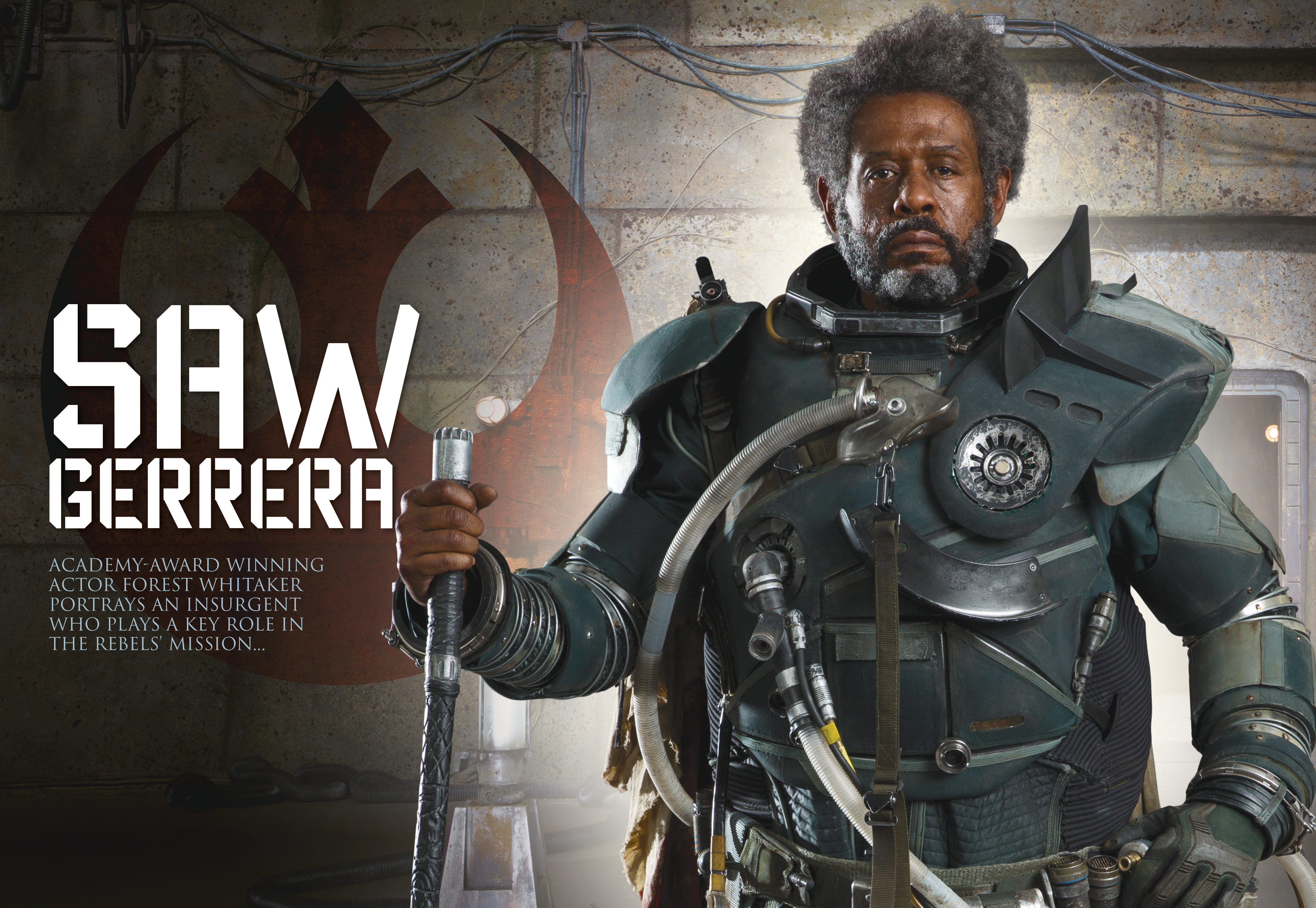 Section from Star Wars Insider #170 featuring Saw Gerrera