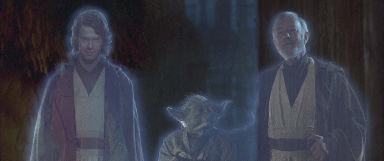 Anakin, Yoda and Obi-Wan, Return of the Jedi