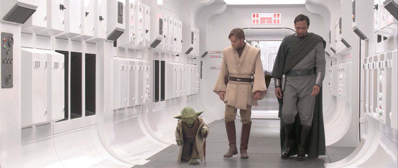 Obi-Wan, Yoda, Bail on the Tantive IV