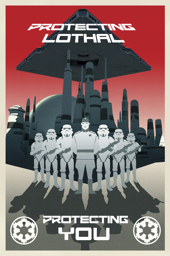 Star Wars Rebels propaganda poster - Lothal