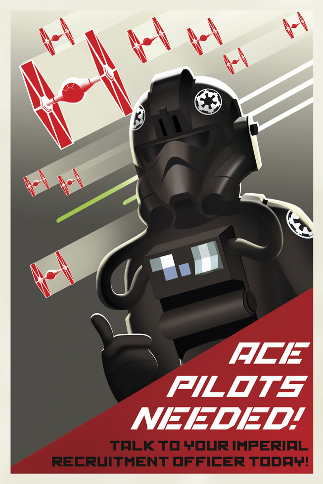 Star Wars Rebels propaganda poster - TIE fighter pilot