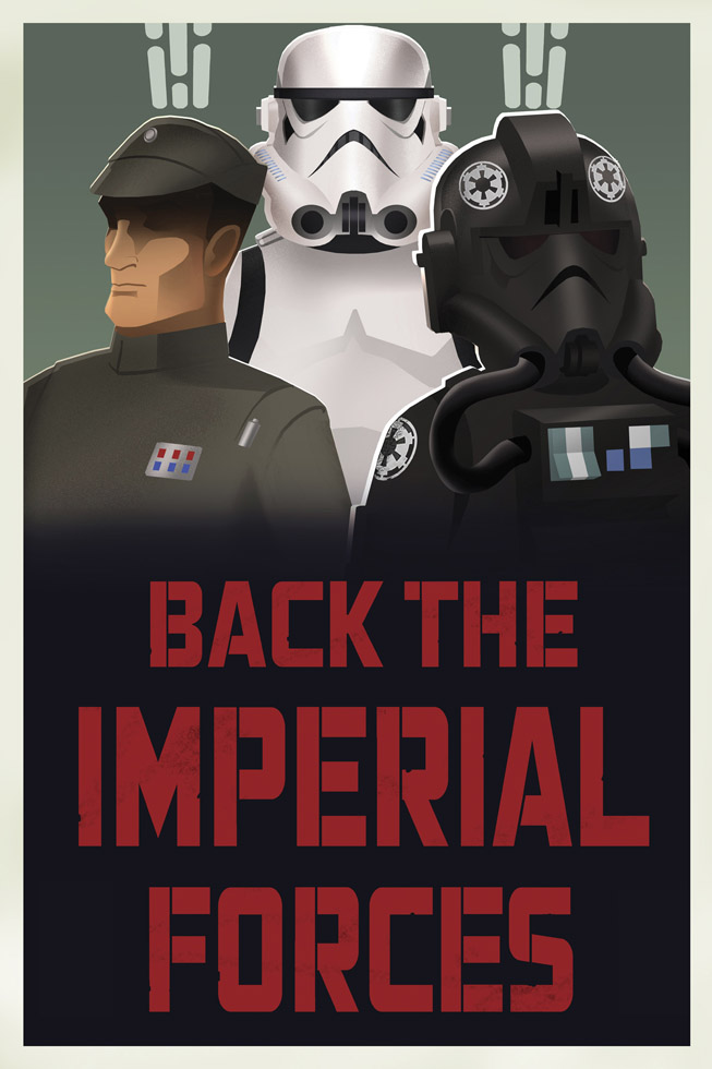 Star Wars Rebels propaganda poster - Stormtrooper