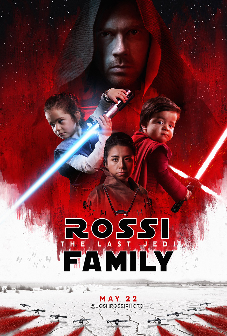 How Josh Rossi Won the Holidays with His Family\'s The Last Jedi Card ...