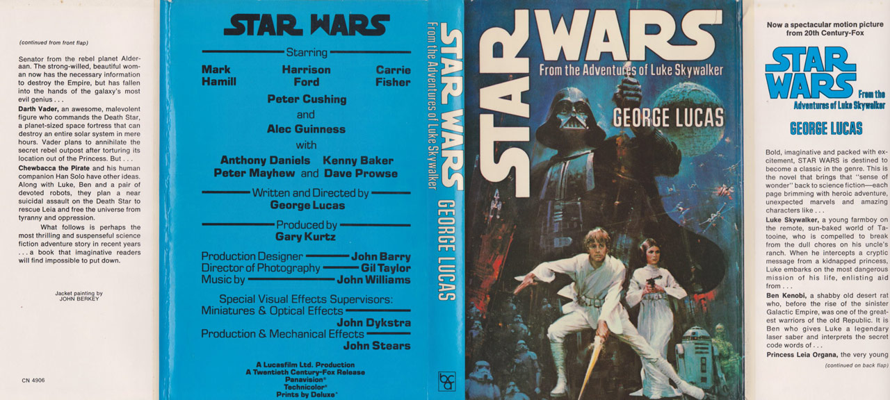 Over 40 Years of Star Wars: A New Hope Novelization Covers